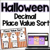 FREE Halloween Math Activity - Decimal Place Value Sort | Digital Halloween Math