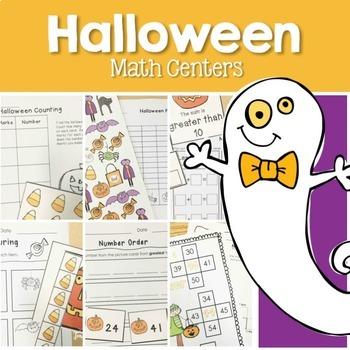 Halloween Math and Literacy Centers Bundle