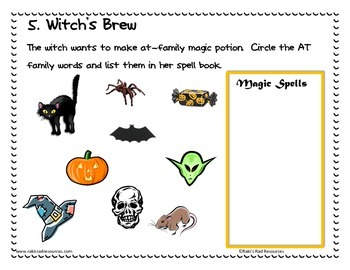 Halloween Center Packet for First and Second Grade