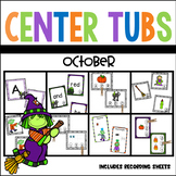 Kindergarten Halloween Math and Literacy Center Pack