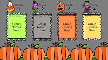 Halloween Centers (Automatic Center Rotation PowerPoint)