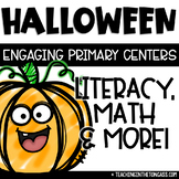 Halloween Math Literacy Centers Ghost Craft