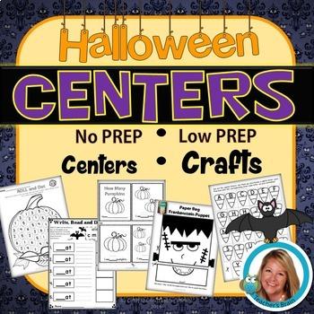 Halloween Activities Crafts Primary Centers