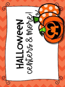 Halloween Centers and Puzzles- K-2