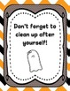 Halloween Centers and Stations Labels