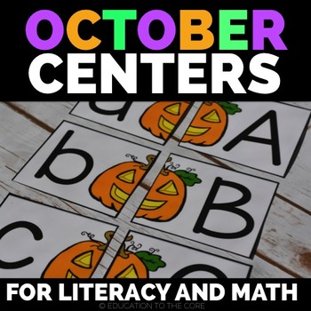 Halloween Literacy and Math Centers