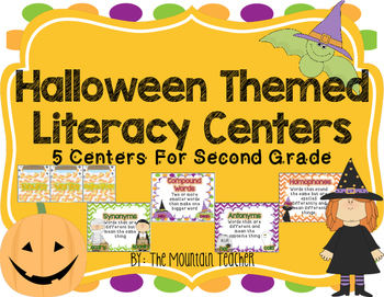Halloween Literacy Centers for Second Grade