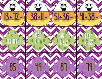 Halloween Math Centers for Second Grade