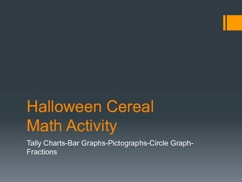 Halloween Cereal Math Activity Packet Graphs and Data