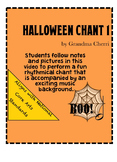 Halloween Chant Rhythm #1