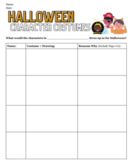 Halloween Character Activity!