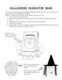 Halloween Character Bags