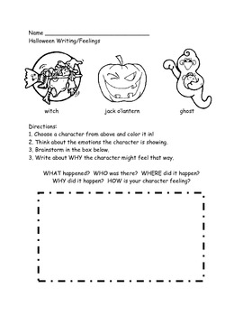 Halloween Character Feelings