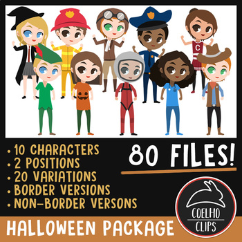 Halloween Character Package [Coelho Clips Digital Clipart]