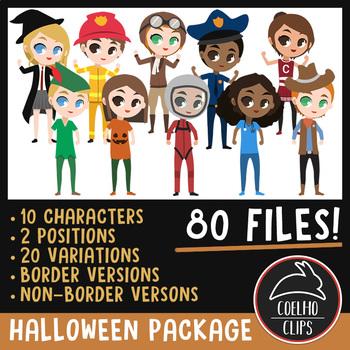Halloween Character Package [Coelho Clips Digital Clipart]