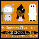 Halloween Characters Clip Art - 35 Color Images