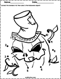 Halloween Characters Dot to Dot Worksheets | Numbers 1-10