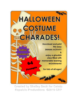 Halloween Charades:  Print, Cut and Go!