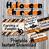 Halloween Charades Printable PDF - Party Game Printable