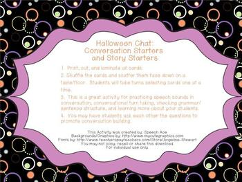 Halloween Chat: Conversation Starters and Story Starters