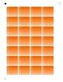 Halloween Check boxes Orange