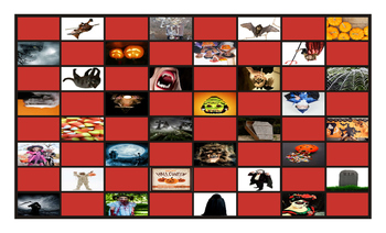 Halloween Checkerboard Board Game