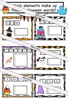 Halloween Chemistry Elements