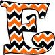 Halloween Chevron Alphabet, Numbers, & Characters