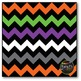 Halloween Chevron on Black Digital Papers {Commercial Use