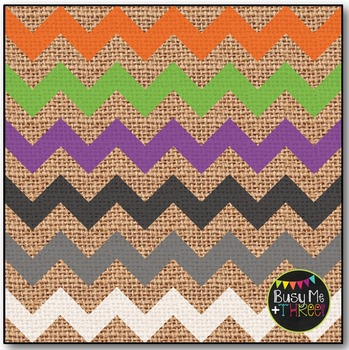 Halloween Chevron on Burlap Digital Papers {Commercial Use Digital Graphics}