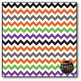 Halloween Chevron on White Digital Papers {Commercial Use