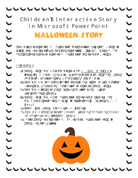 Children's Halloween Interactive Story in Microsoft PowerPoint
