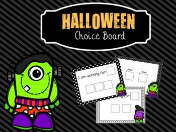 Halloween Choice Board!