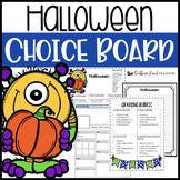 Halloween Choice Board