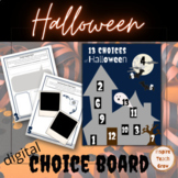 Halloween Choice Board- Digital Resource- Enrichment Fun