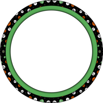 Halloween Circle Frames by Teacher\'s Lounge | Teachers Pay Teachers