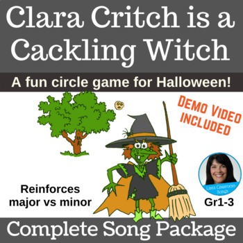Halloween Circle Game | Clara Critch is a Cackling Witch | Complete Song Package