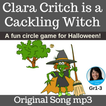 Halloween Circle Game | Clara Critch is a Cackling Witch | Song mp3