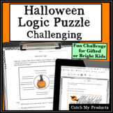 Halloween Logic Puzzle CHALLENGING