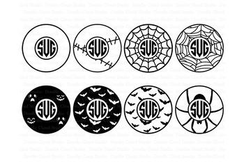 Halloween Circle Monogram Frame SVG files.