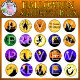 Halloween Circle Silhouettes