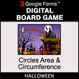 Halloween: Circles Area & Circumference - Digital Board Ga