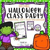 Halloween Editable Class Party Set