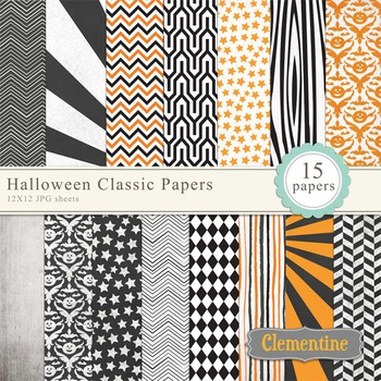 Halloween Classic Digital Papers
