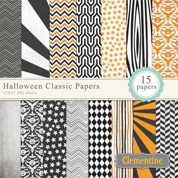Halloween Classic Digital Papers
