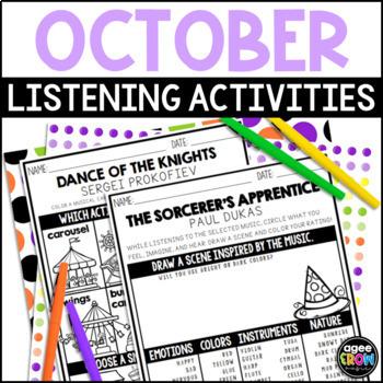 Halloween Music Activities, October Activities, Sub Plans, Classical Listening