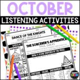 Halloween Music Activities, October Activities, Sub Plans,