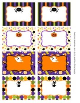 Halloween Classroom Bin Tag Labels