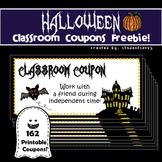 Halloween Classroom Coupons - Freebie!