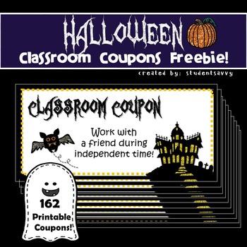 Halloween Classroom Coupons - Freebie!